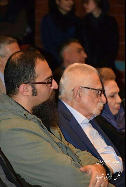آیدین سلسبیلی در کنار استاد عبدالمجید ارفعی