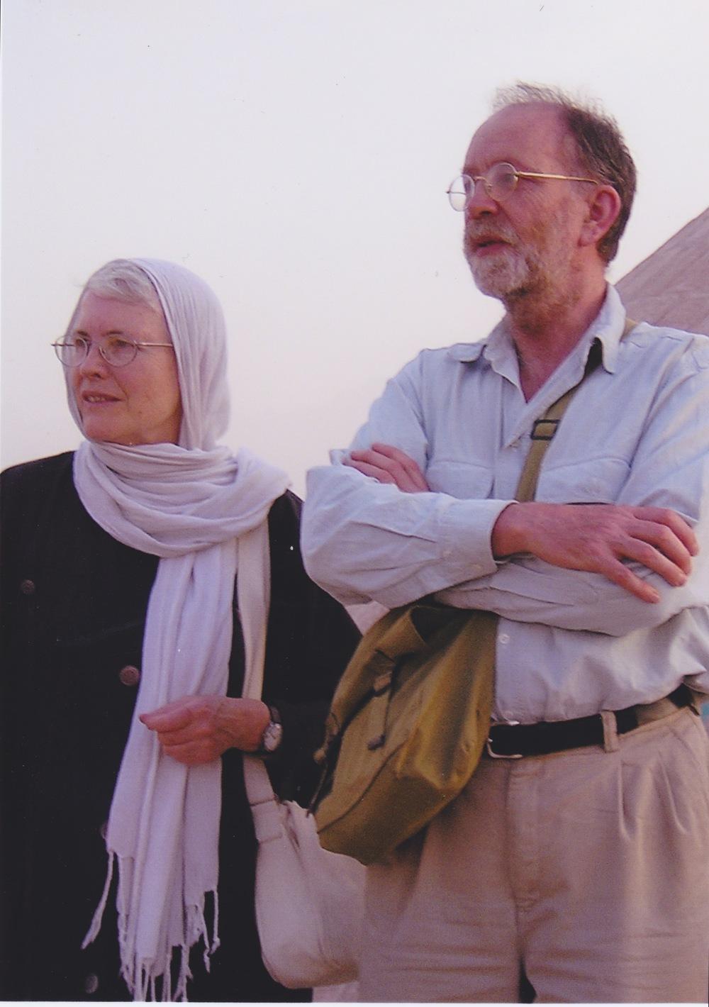 عکسی از او در سفرش به ایران در سال 2004