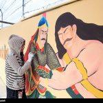 نقش شاهنامه بر بلوار فردوسی مشهد