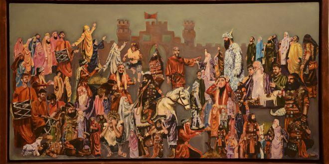 هفت گذرگاه نمایشگاه مجازی نقاشی های مهیا طغیانی