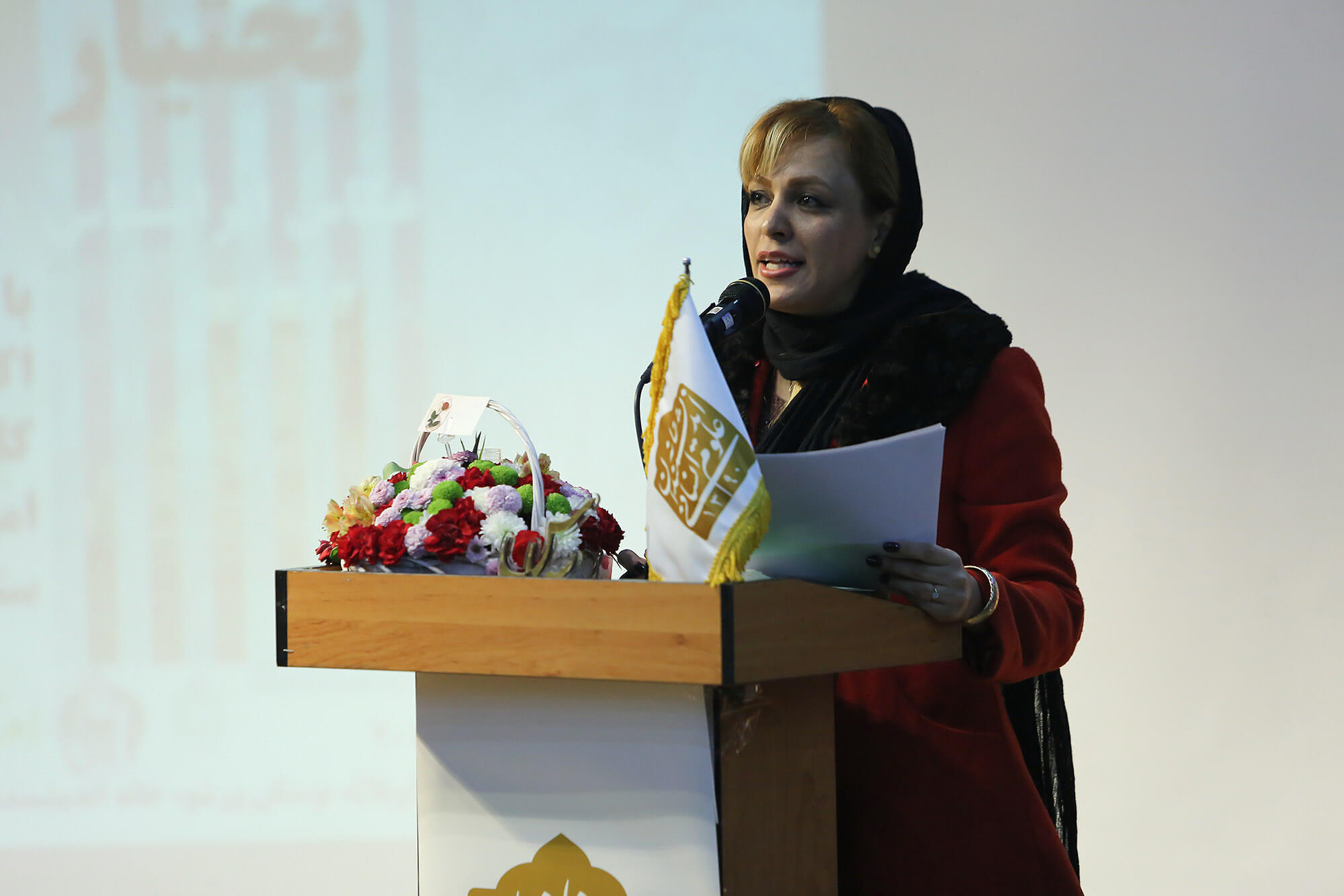 راضیه موسوی مجری آیین سپاس استاد افشین بختیار