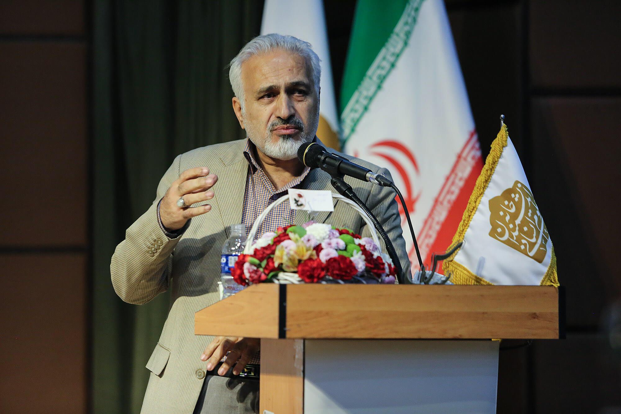 سخنرانی امیر علی جوادیان در آیین سپاس استاد افشین بختیار