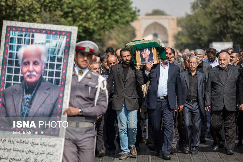آیین خاکسپاری محمد دبیر سیاقی برگزار شد