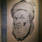استاد رسام ارژنگی در زیر گراوری از فردوسی در دیوان اشعارش، ایده ساخت تابلو و مجسمه از بزرگان فرهنگی و تاریخی ایران را از خود میداند ساخت اولین مجسمه فردوسی توسط یک آذربایجانی خوشنام